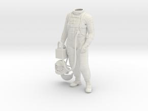 Mercury Astronaut Standing in White Natural Versatile Plastic: 1:12