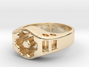 US12.5 Ring XIX: Tritium (Silver) in 14k Gold Plated Brass