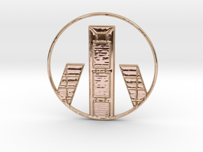 Madrid Pendant in 14k Rose Gold Plated Brass