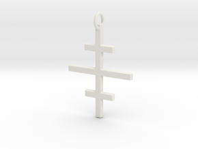 Salem Cross/Ever-Lasting Contrast in White Natural Versatile Plastic