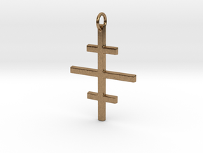 Salem Cross/Ever-Lasting Contrast in Natural Brass