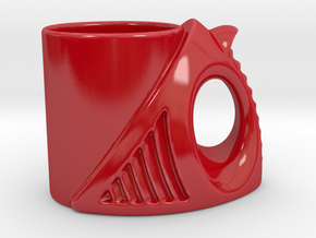 Evolution Cup  in Gloss Red Porcelain