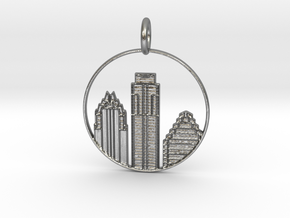 Austin Pendant With Loop in Natural Silver