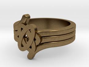 Quantum Wave Ring 2 in Natural Bronze