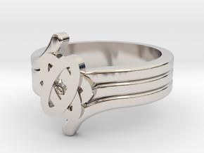 Quantum Wave Ring 2 in Platinum