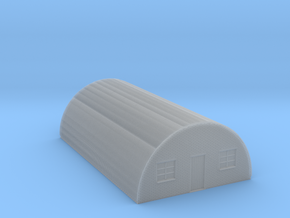 Nissen Hut 24ft Span 7 Bay N Gauge Brick Ends in Smooth Fine Detail Plastic