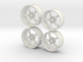 Weld S71 for Foose tires 1/12 scale in White Strong & Flexible