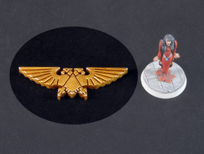 Double-headed Eagle token in White Strong & Flexible Polished