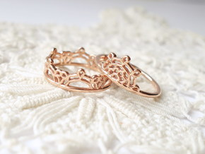 Half Lace Ring - Size 6.5 in 14k Rose Gold Plated Brass