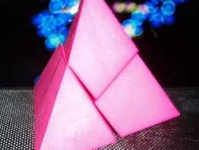4 Pieces pyramid puzzle designed for grabability in Pink Strong & Flexible Polished