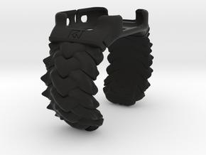 BRAID  For Iwatch Cuff 42mm MEDIUM in Black Strong & Flexible