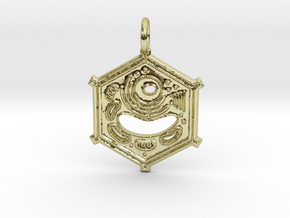 Plant Cell Pendant in 18k Gold Plated Brass