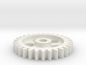 GT2 Gear (G0002) in White Natural Versatile Plastic