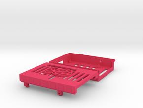 RaspberryPi Case in Pink Processed Versatile Plastic
