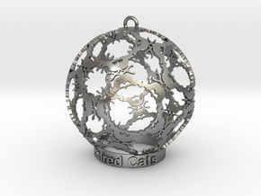 Hundred Cats Ornament in Natural Silver