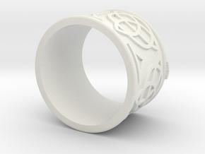 Celtic Ring Bene in White Natural Versatile Plastic