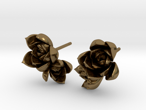 Succulent No. 2 Post Studs in Polished Bronze