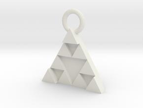 DeusEx Pendant V1 3,5cm full version in White Natural Versatile Plastic
