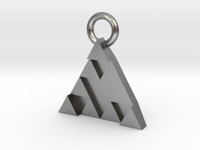 DeusEx Pendant V1 3,5cm full version in Natural Silver