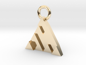 DeusEx Pendant V1 3,5cm full version in 14k Gold Plated Brass