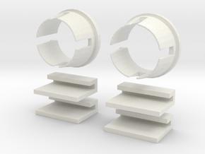 L Body 2 Door Window Reg Pack in White Natural Versatile Plastic