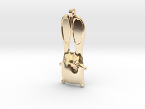 Bunny Pendant in 14K Yellow Gold