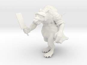 Robed Ratman in White Natural Versatile Plastic