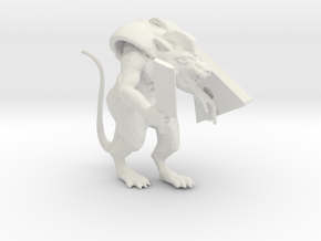 Armored Ratman in White Natural Versatile Plastic