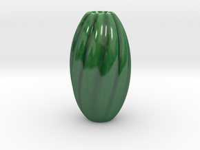 Flower Vase in Gloss Oribe Green Porcelain