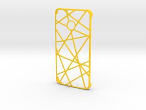 Htc One Case in Yellow Processed Versatile Plastic