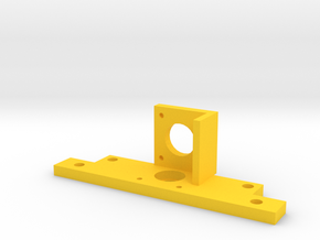 R Motor Bracket in Yellow Processed Versatile Plastic