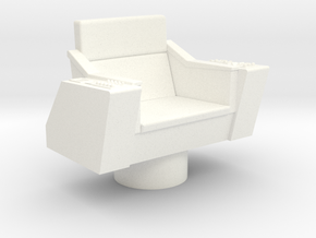 Bridge - Captain's Chair 09 in White Processed Versatile Plastic