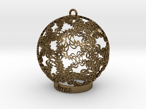 Aves Ornament for lighting in Natural Bronze