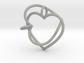 Two Hearts Interlocking in Aluminum