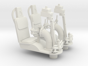1/18 GUNNER SEATS in White Strong & Flexible