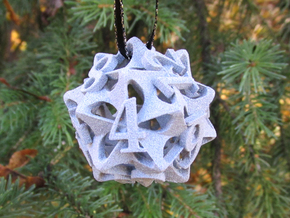 Pinwheel d12 Ornament in Gray PA12