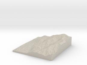 Model of Miners Ridge in Sandstone