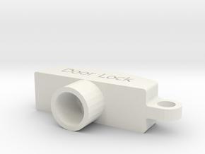 Door Lock Key in White Natural Versatile Plastic