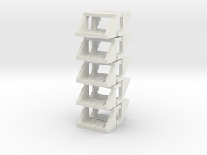 10 Truck Steps (for 1/64 Applications) in White Natural Versatile Plastic