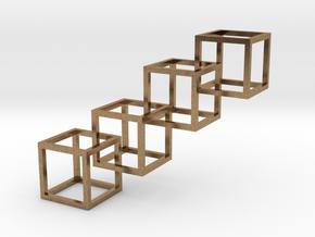 Interlocking Cube Necklace 4 in Natural Brass (Interlocking Parts)
