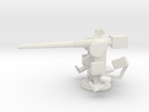 1/144 Scale 3 In 50 Cal Mk 24 Naval Gun in White Natural Versatile Plastic