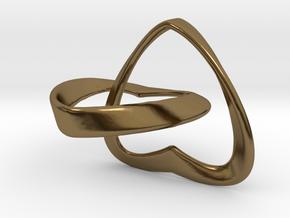 Joined Together - Interlocking Hearts Pendant in Interlocking Polished Bronze