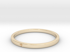 Crossring9_2 in 14K Yellow Gold