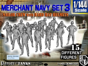 1-144 Merchant Navy Set 3 in Smooth Fine Detail Plastic