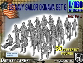 1/160 US Navy Okinawa Set 6 in Smooth Fine Detail Plastic