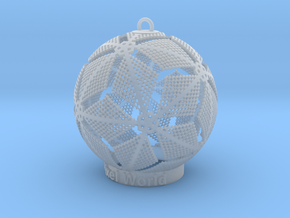 Pixel World Ornament for lighting days in Smooth Fine Detail Plastic