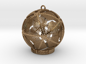 Pixel World Ornament for lighting days in Natural Brass