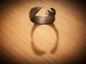 Surf / Wave Ring in Polished Silver