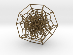 120-Cell, Perspective Projection 2 in Natural Bronze