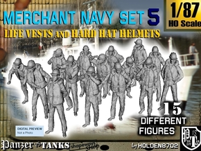 1/87 Merchant Navy Set 5 in Frosted Ultra Detail